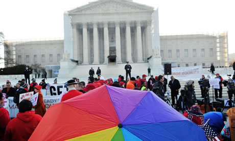 Supporters of same-sex marriage at the supreme court