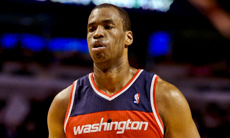Jason Collins on court for Washington Wizards