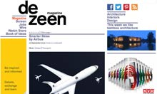 Dezeen.com homepage screengrab September 2012