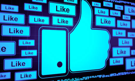 Facebook likes on a big screen