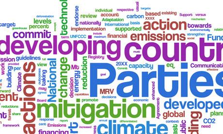 The Copenhagen climate summit 'Danish' text - as a wordle