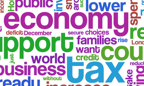 Budget 2010 speech as a wordle