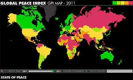 Global peace index 2011 get the data news theguardian global peace index publicscrutiny Image collections