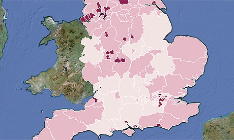 Children looked after by local authority map