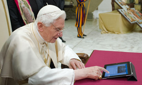Pope Benedict XVI sends his first tweet