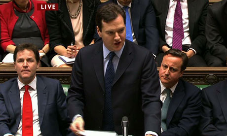 Chancellor of the Exchequer George Osborne delivers his annual Budget
