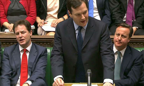 Chancellor of the Exchequer George Osborne delivers his annual Budget statement