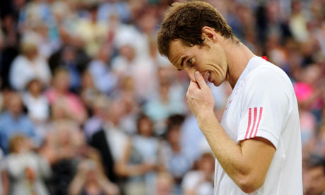 Andy Murray becomes emotional after losing the Men's Singles Final at Wimbledon