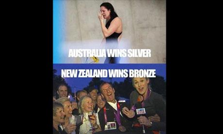 London 2012: New Zealand celebrate leading Australian ...
