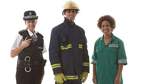 Emergency services staff