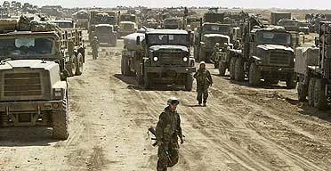 US marines heading north, some 150 km north of Nassiriya