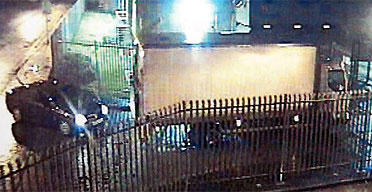 Picture released by Kent Police from CCTV at the Securitas depot in Tonbridge of the white Renault 7.5 tonne lorry used in the raid by robbers who stole an estimated 40 million