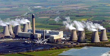 An aerial view of the Drax power station in North Yorkshire. Photograph: John Giles/PA