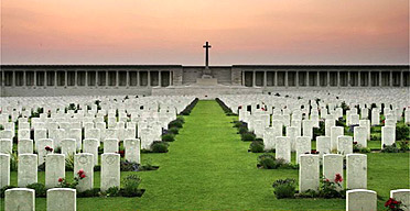 Cemetery for soldiers killed in the Battle of the Somme