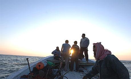 Abdul Salam al-Hissi du bateau quitte  le port la ville de Gaza et les chefs en mer ouverte.