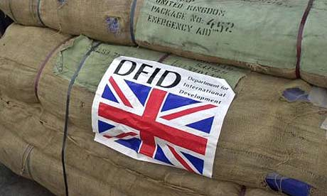 Aid packages from the Department for International Development