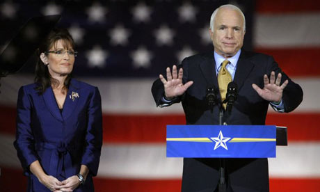 U.S Republican presidential nominee Senator John McCain (R-AZ) concede victory at a rally in Phoenix, Arizona