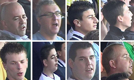 Fans sought by police over indecent chanting against Sol Campbell. Photograph: Hampshire police/PA