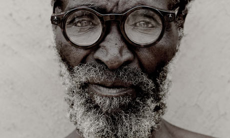 A Zulu man wearing adaptive eyeware
