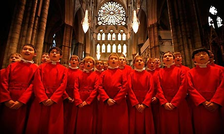 Westminster Abbey choristers prepare for the Christmas services