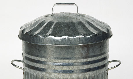 Galvanized dustbin with lid