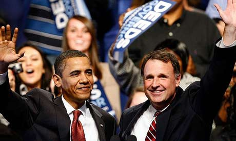 Barack Obama and Virginia gubernatorial candidate Creigh Deeds