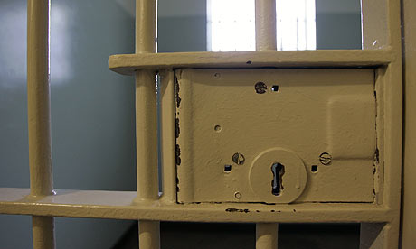 A prison cell door