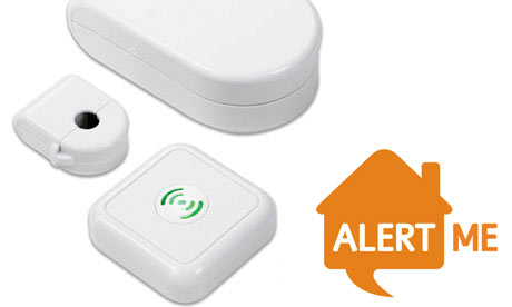 AlertMe energy kit with Oct 09 logo