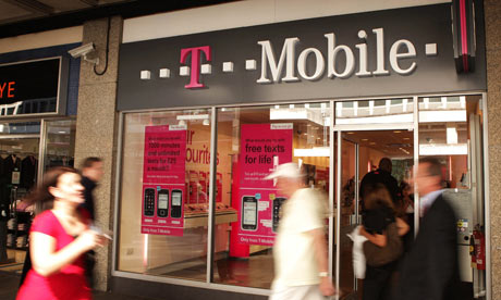 A T-Mobile shop in Victoria in London.