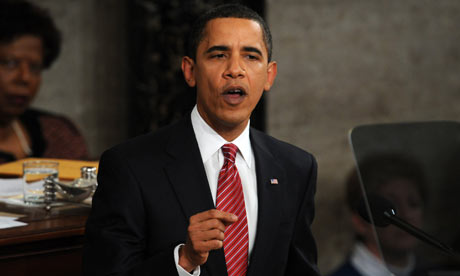 Barack Obama addresses a Joint Session of Congress