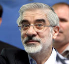 Iranian presidential candidate Mir-Hossein Moussavi vots on election day in Iran 12 June 2009