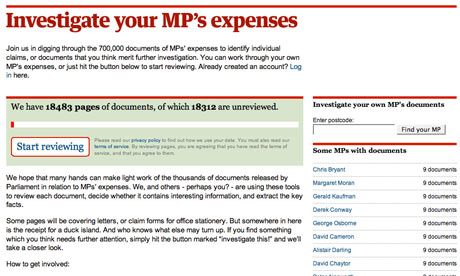 Investigate your MP's expenses.
