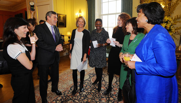 Rebekah Wade: 2008: Prime Minister Gordon Brown hosts a lunch for women in business