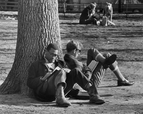 "Image result for andré Kertész photographs ""two young men sitting"""