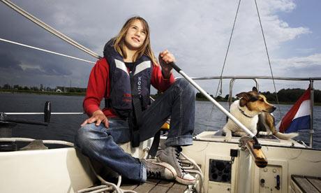Laura Dekker 13 on her sa 001