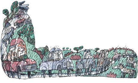 (illustration de Benoît Jacques pour The Guardian, 2009 ©)