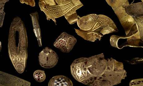 Anglo Saxon artifacts from the Staffordshire hoard