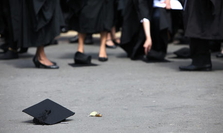 Graduates have little to celebrate after businesses said they would not be hiring them.
