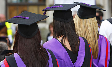 Students in mortar boards