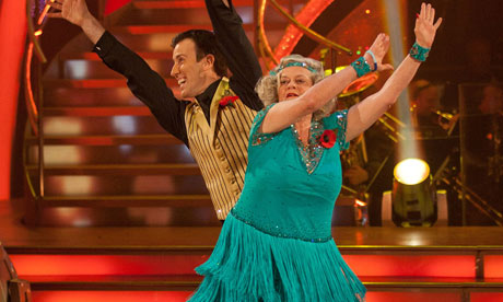 Ann Widdecombe and Strictly Come Dancing partner Anton Du Beke