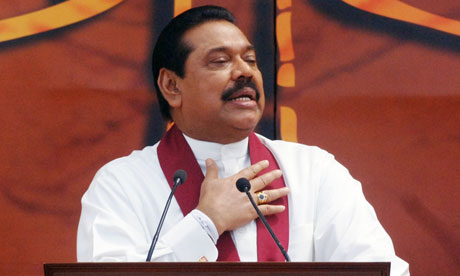 Sri Lanka's president, Mahinda Rajapaksa  WikiLeaks cables: 'Sri Lankan president responsible for massacre of Tamils' Sri Lankas president Mahi 006