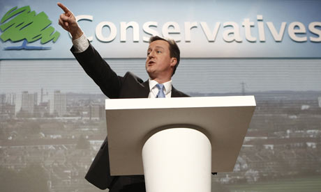 David Cameron at a press conference in London on 8 April 2010.