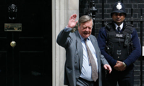 Ken Clarke at Downing Street after being appointed justice secretary by prime minister David Cameron
