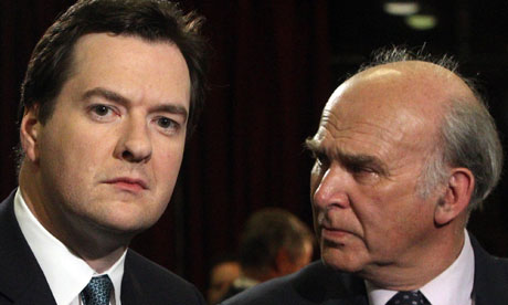 Vince Cable and George Osborne