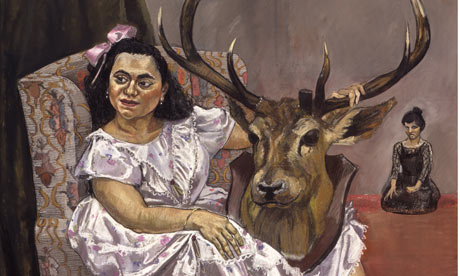 Detail from Snow White Playing with her Father's Trophies (1995) by Paula Rego