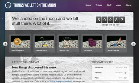 Things we left on the moon CSS3 demo site