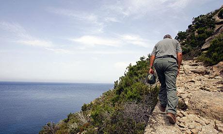 An Italian forest guard on Montecristo island