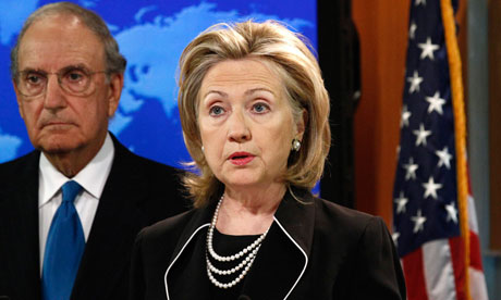 The US secretary of state, Hillary Clinton