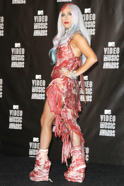 Lady Gaga's meat dress  - Serious Debates & News