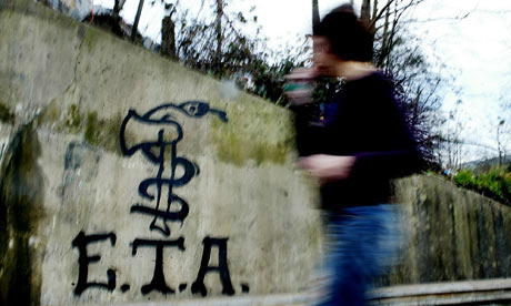 Graffiti of the Basque separatist group ETA, which is to declare a permanent ceasefire in Spain